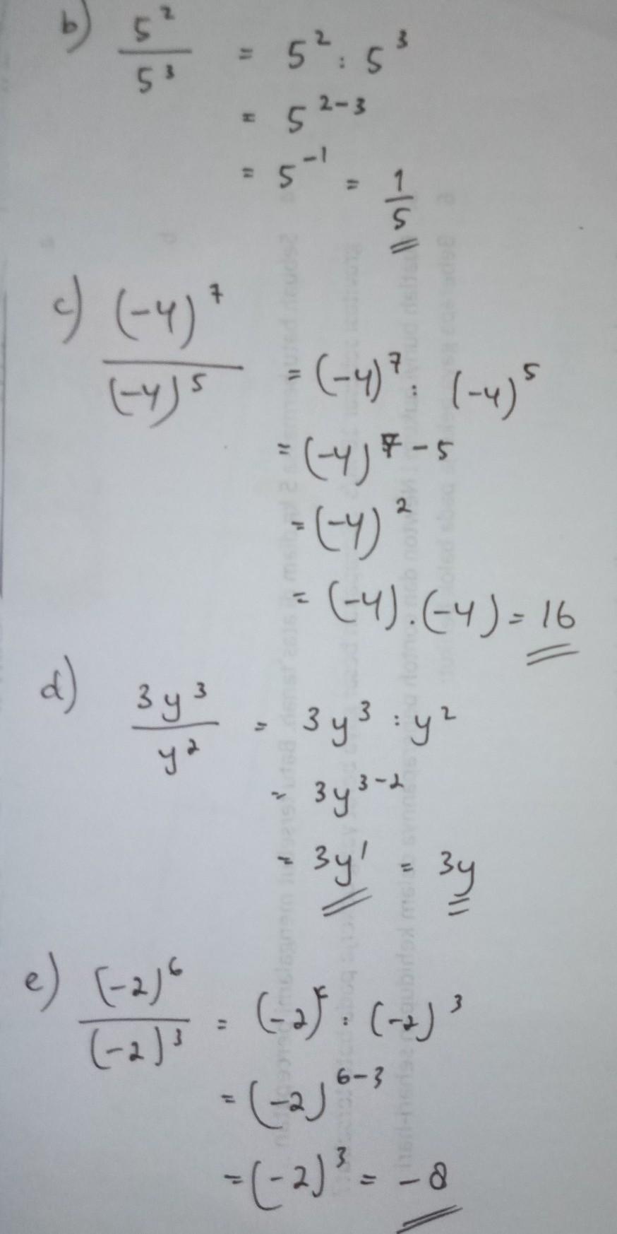 Pembagian Bilangan Berpangkat : pembagian, bilangan, berpangkat, 2.sederhanakan, Hasil, Pembagian, Bilangan, Berpangkat, Dibawah, Carilah, Brainly.co.id