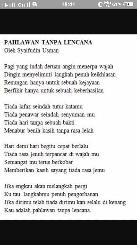 Puisi Kemerdekaan 4 Bait : puisi, kemerdekaan, Kemerdekaan, Puisi, Pahlawanku
