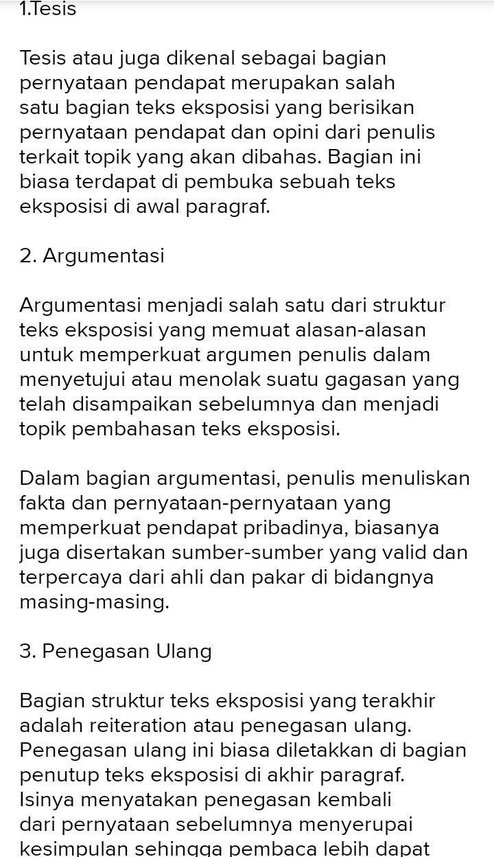 Struktur Teks Argumentasi : struktur, argumentasi, Tentukan, Struktur, Eksposisi, Tesisi,, Rangkaian,, Argumen,, Penegasan, Ulang), Brainly.co.id