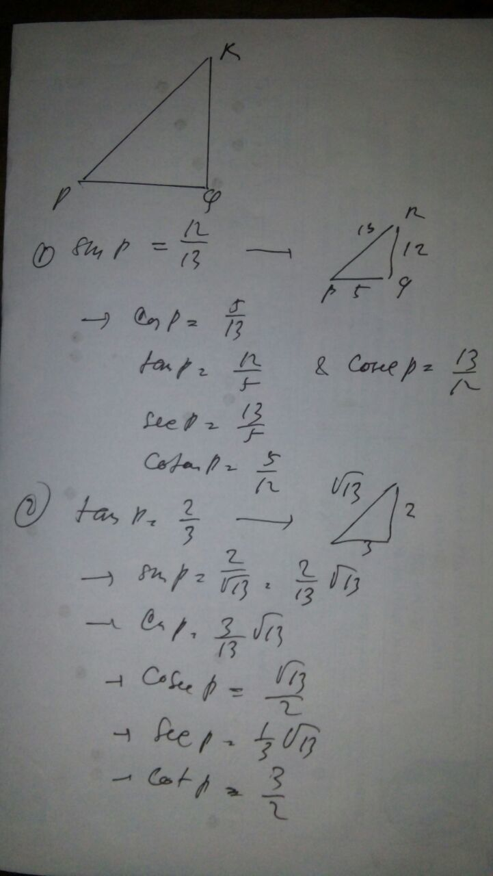 Contoh Soal Perbandingan Trigonometri Pada Segitiga Siku-siku : contoh, perbandingan, trigonometri, segitiga, siku-siku, Titik, Adalah, Salah, Sudut, Segitiga, Siku-siku, Hitunglah, Nilai, Brainly.co.id