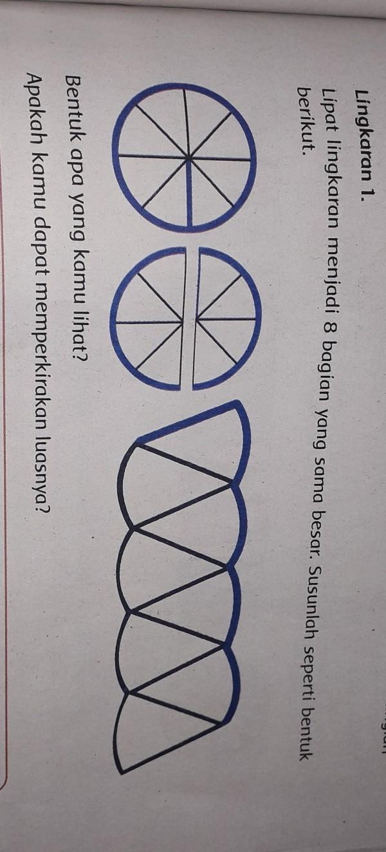 Bentuk Lingkaran : bentuk, lingkaran, Lingkaran, 1.Lipat, Menjadi, Bagian, Besar., Susunlah, Seperti, Bentukberikut.Bentuk, Brainly.co.id