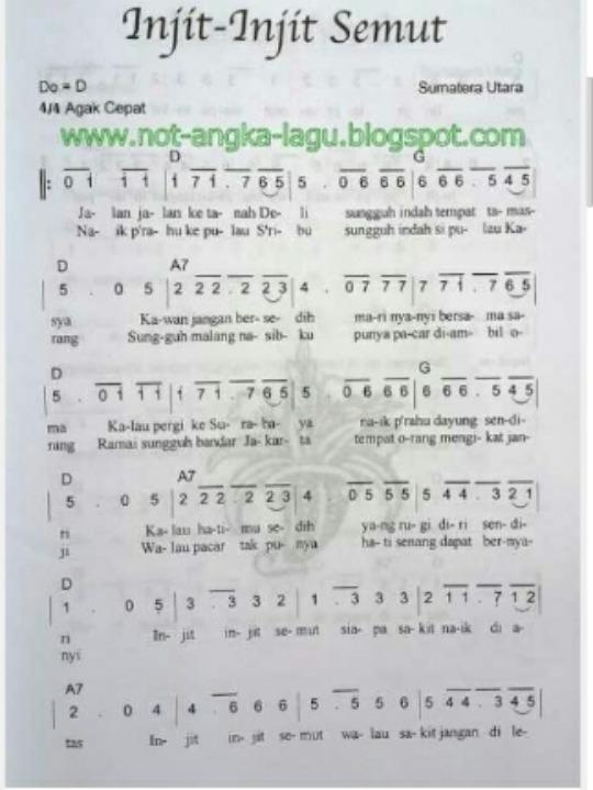 Pencipta Lagu Injit Injit Semut : pencipta, injit, semut, Gambar, Garis, Melodi, Injit, Semut, Gratis, Infobaru