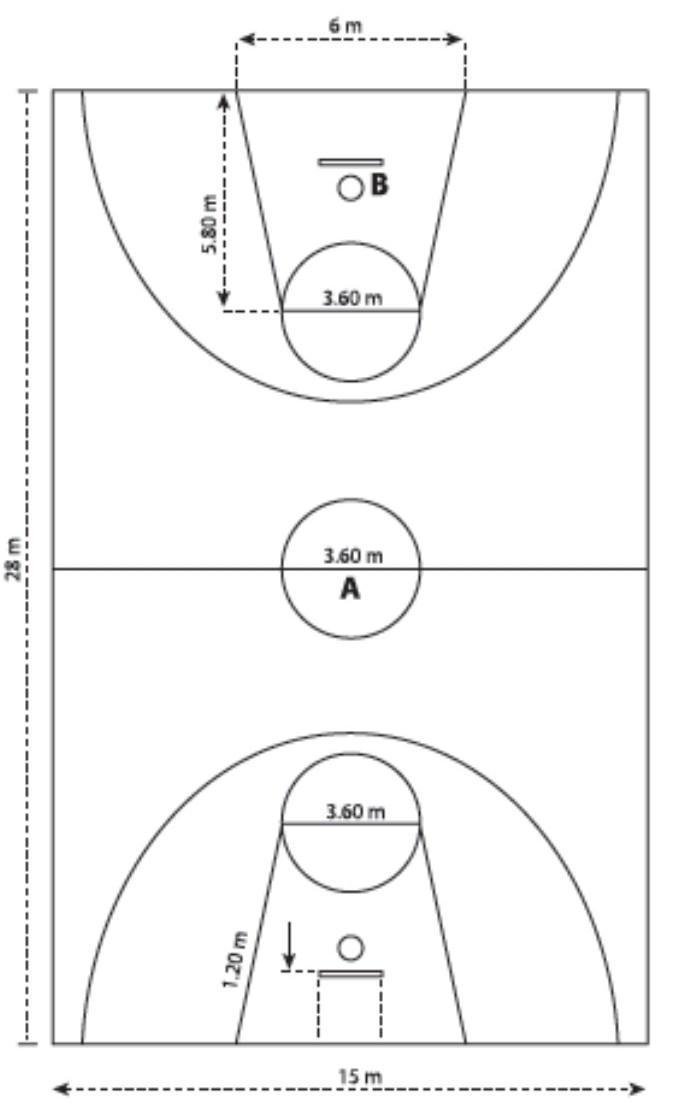 Luas Lapangan Bola Basket : lapangan, basket, Tuliskan, Bentuk, Ukuran, Lapangan, Basket, Dengan, Lengkap.2., Peraturan-peraturan, Brainly.co.id
