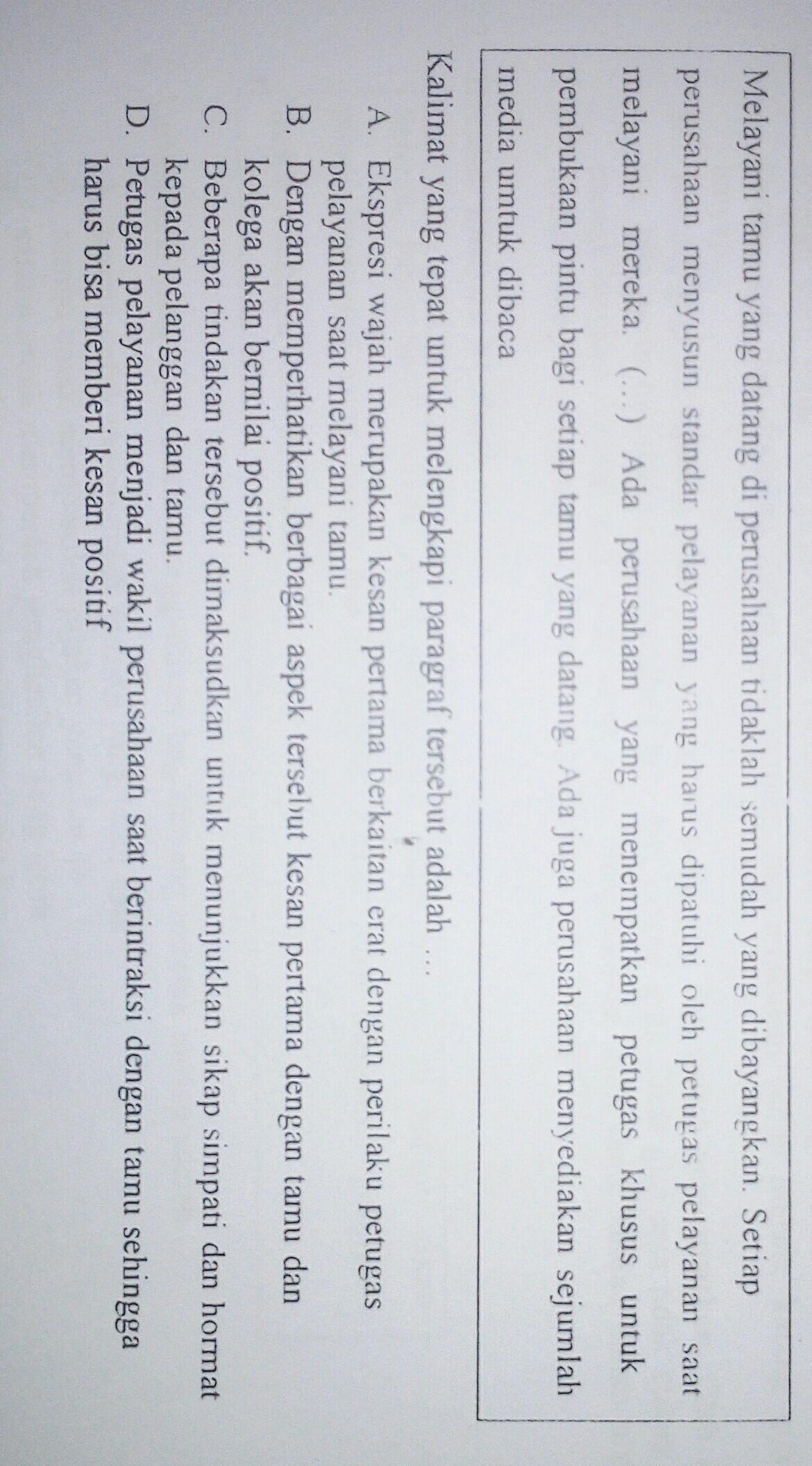 Melengkapi Paragraf Dengan Kalimat : melengkapi, paragraf, dengan, kalimat, Kalimat, Tepat, Untuk, Melengkapi, Paragraf, Tersebut, Adalah..., Brainly.co.id