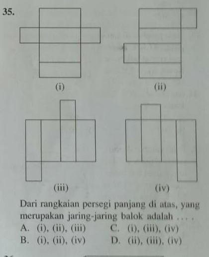 Jaring Jaring Persegi Panjang : jaring, persegi, panjang, Rangkaian, Persegi, Panjang, Diatas, Merupakan, Jaring-jaring, Balok, Adalah, Brainly.co.id
