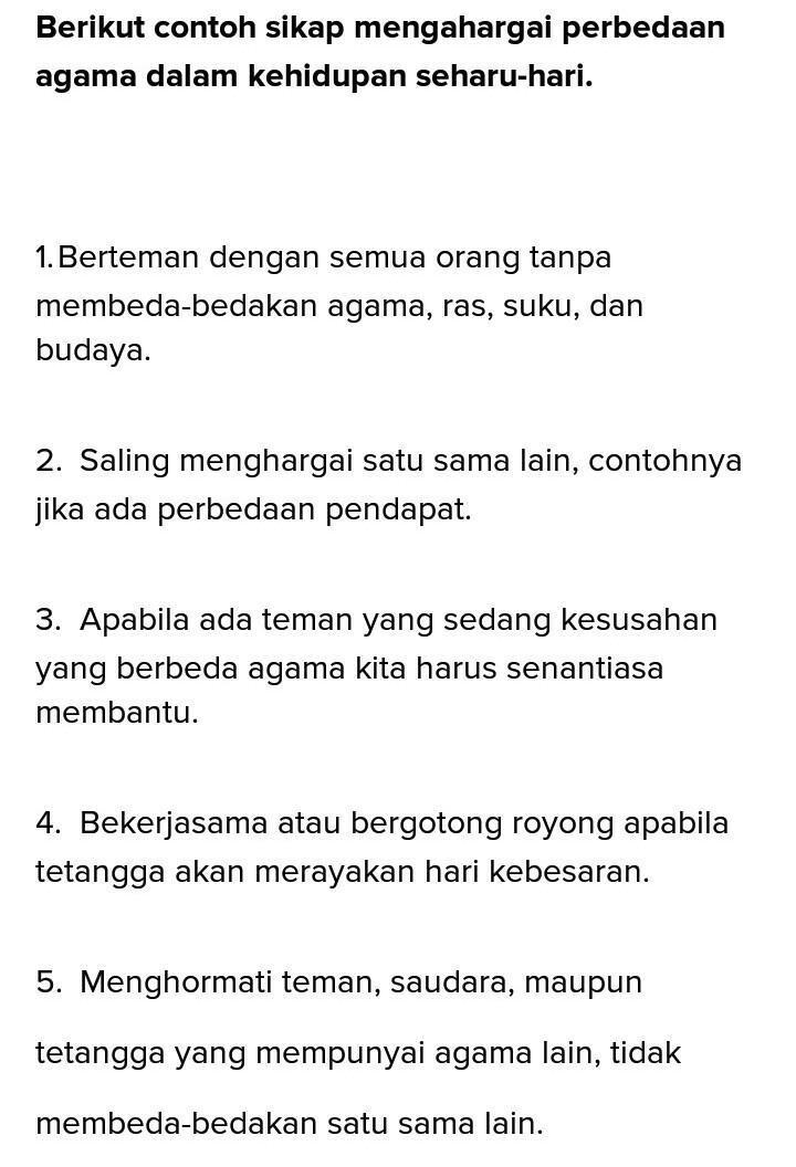 Cara Menghargai Keragaman Budaya : menghargai, keragaman, budaya, Tulituliskan, Contoh, Sikap, Menghargai, Keberagaman, Agama, Indonesia, Brainly.co.id