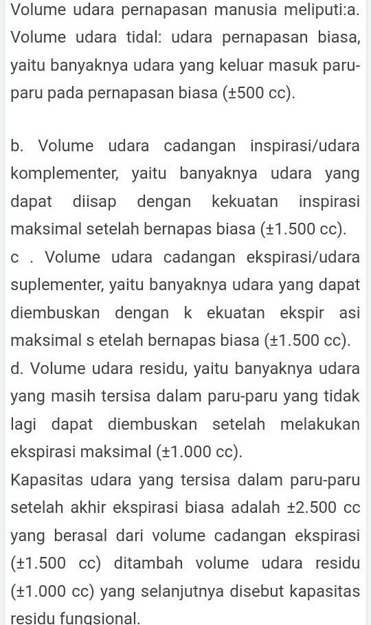 Jelaskan Macam : jelaskan, macam, Sebut, Jelaskan, Macam-macam, Volume, Udara, Pernapasan, Brainly.co.id