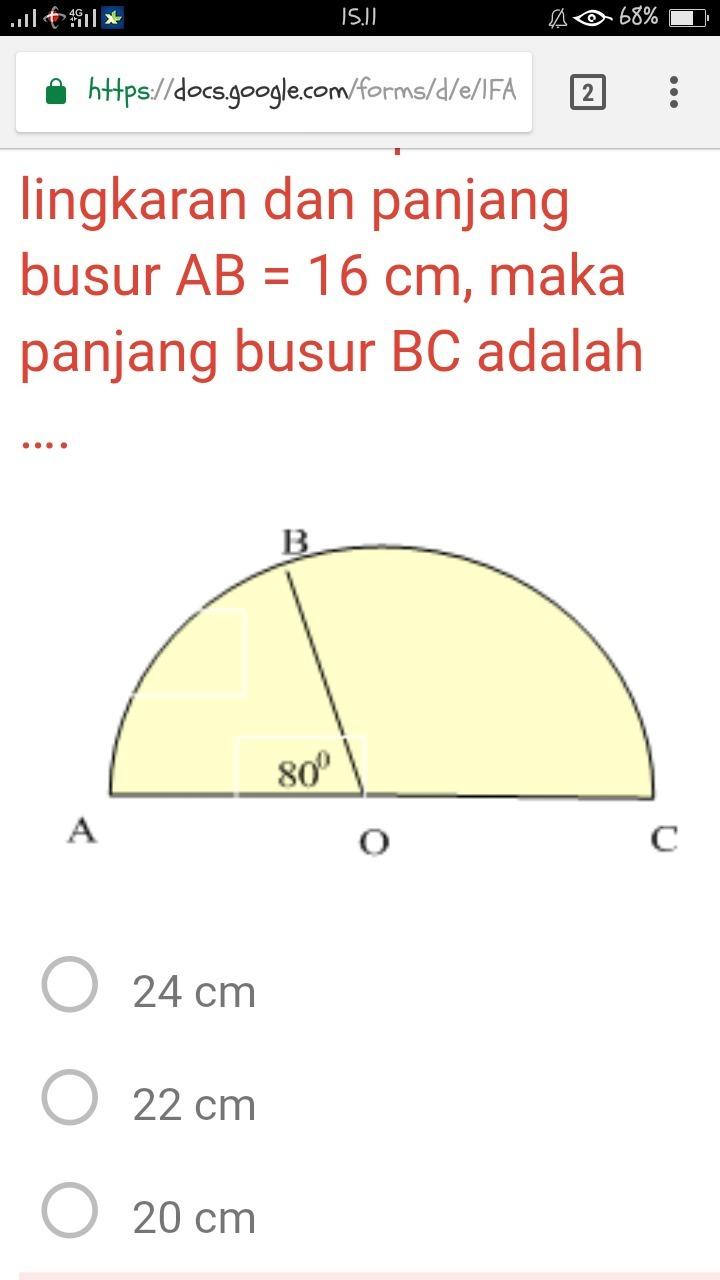 Panjang Busur Lingkaran : panjang, busur, lingkaran, Perhatikan, Gambar, Setengah, Lingkaran, Berikut!, Pusat, Panjang, Busur, Brainly.co.id