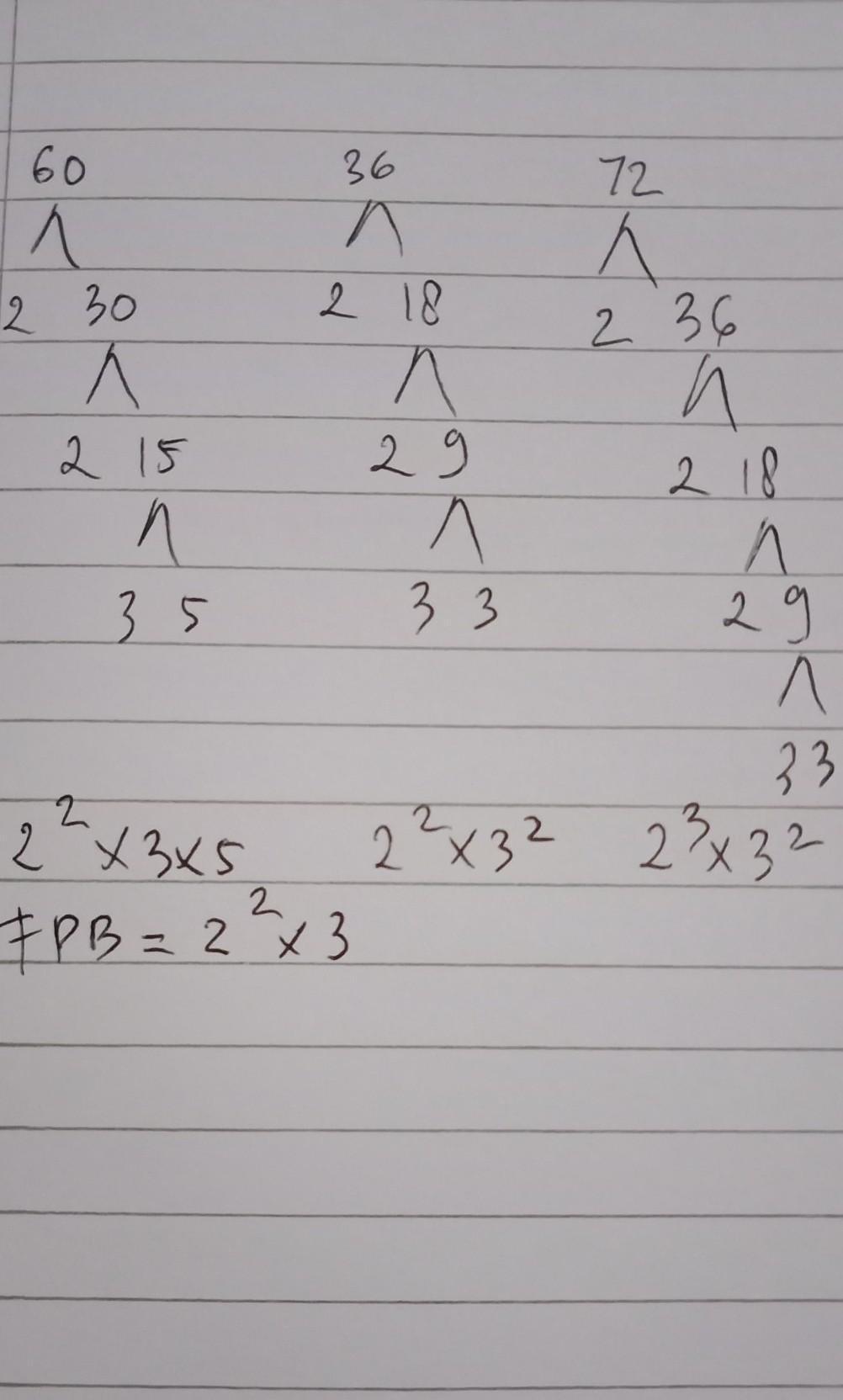 Fpb Dari 60 Dan 72 : Faktor, Persekutuan, Terbesar, Darii, 60,36,dan, Dalam, Bentuk, Faktorisasi, Prima, Adalah, Brainly.co.id