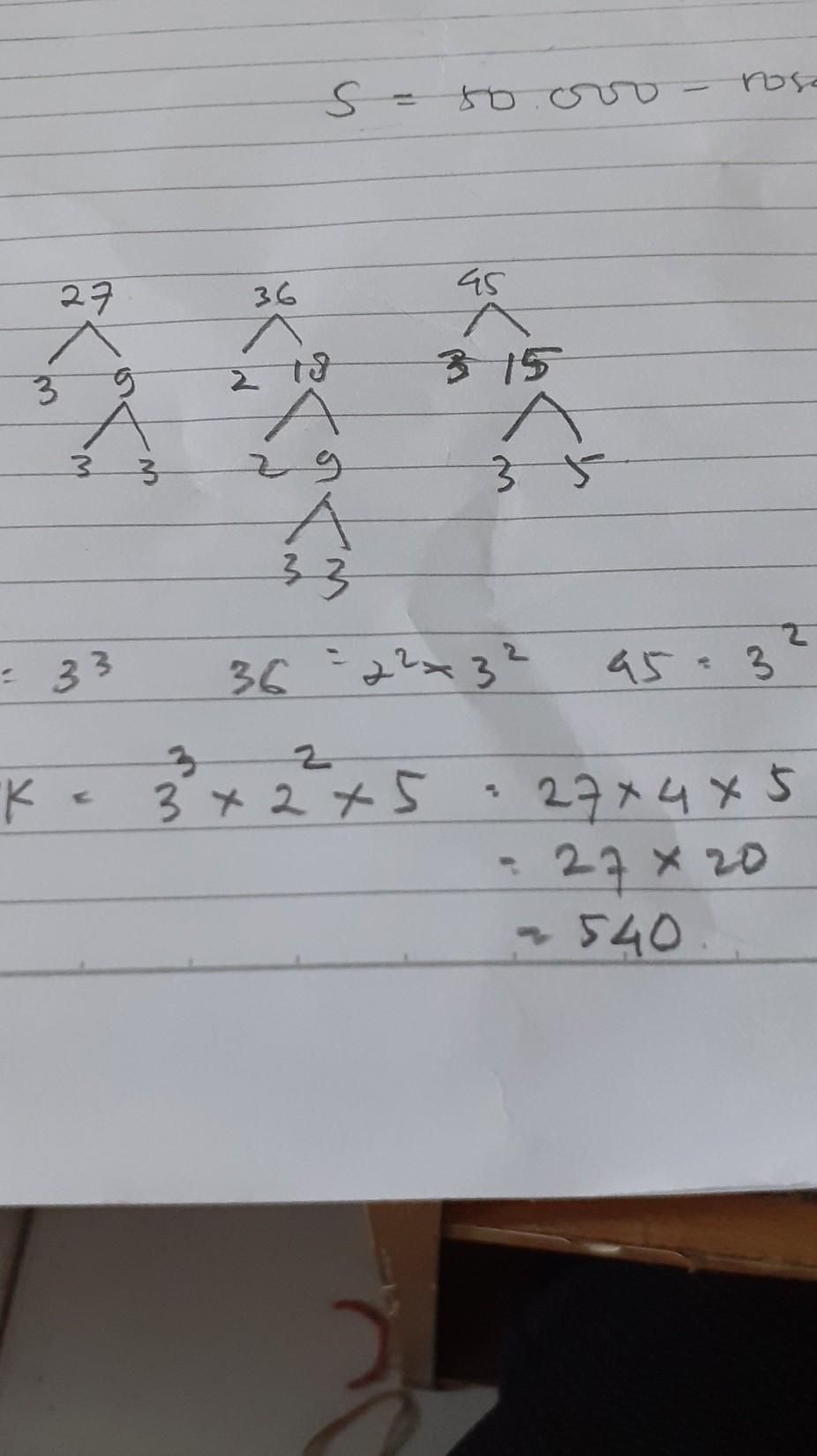 Selisih Fpb Dan Kpk Dari 18 27 Dan 45 Adalah - скачать...