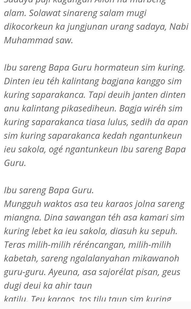 Pidato Bahasa Sunda Perpisahan : pidato, bahasa, sunda, perpisahan, Pidato, Bahasa, Sunda, Tentang, Perpisahan, Brainly.co.id