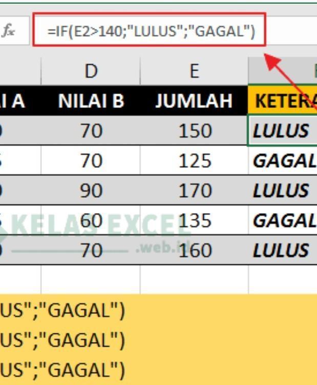 Fungsi Logika Pada Microsoft Excel : fungsi, logika, microsoft, excel, Buatlah, Contoh, Perhitungan, Menggunakan, Fungsi, Logika, Microsoft, Excel, Beserta, Hasilnya???, Brainly.co.id