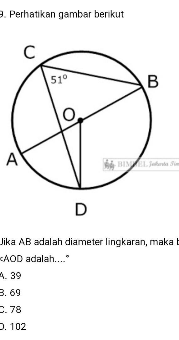 Jika Adalah : adalah, Adalah, Diameter, Lingkaran, Besar, <AOD, Adalah?...tolong, Jawab, Dengan, Caranya, Brainly.co.id