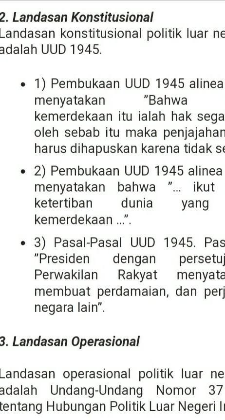 Landasan Politik Luar Negeri Indonesia : landasan, politik, negeri, indonesia, Media, News:, Landasan, Konstitusional, Politik, Negeri, Indonesia, Adalah