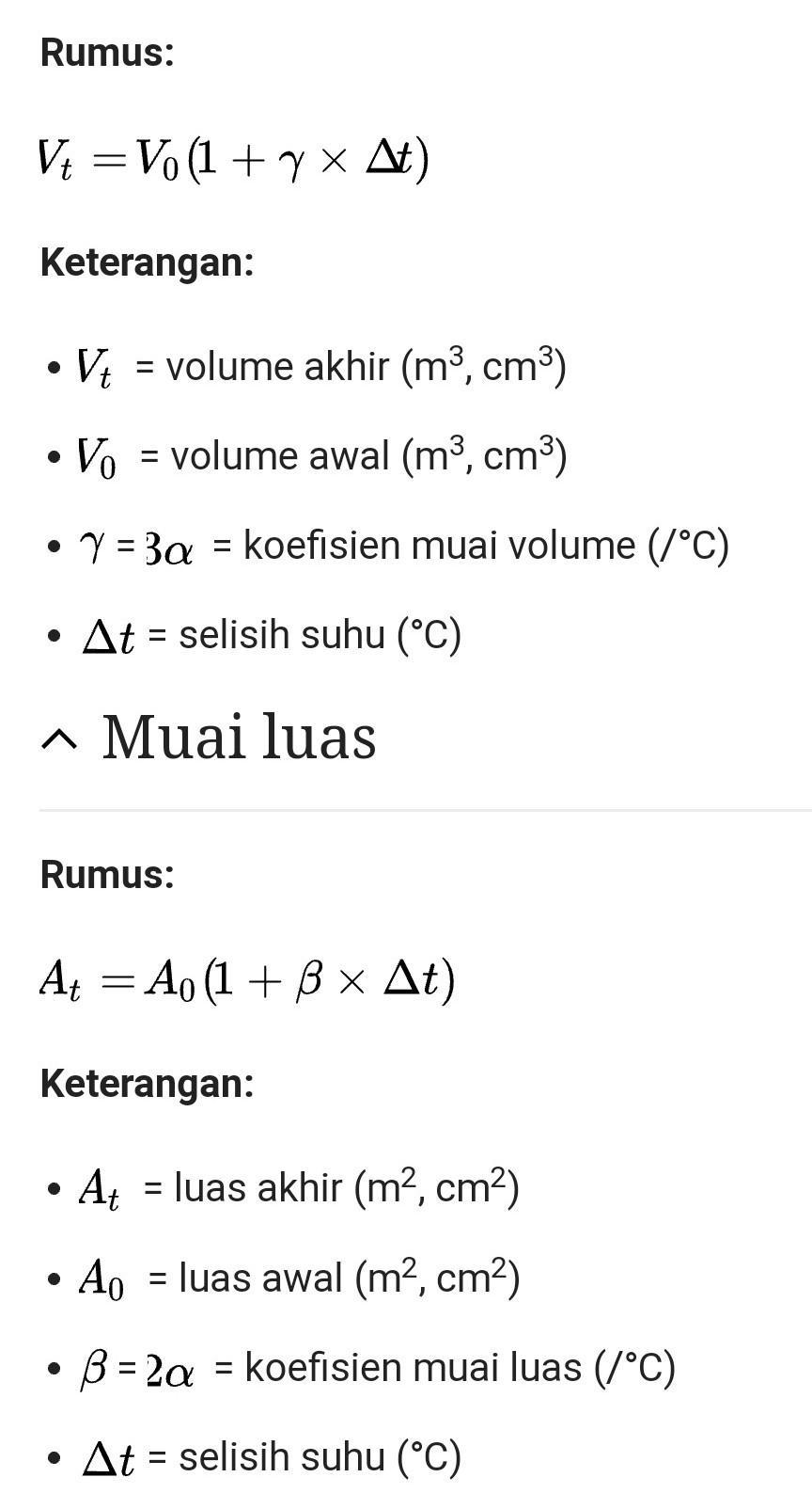 Rumus Koefisien Muai Panjang : rumus, koefisien, panjang, Berikan, Rumus, Pemuaian, Luas,, VolumeRumus, Paling, Sederhana, Brainly.co.id