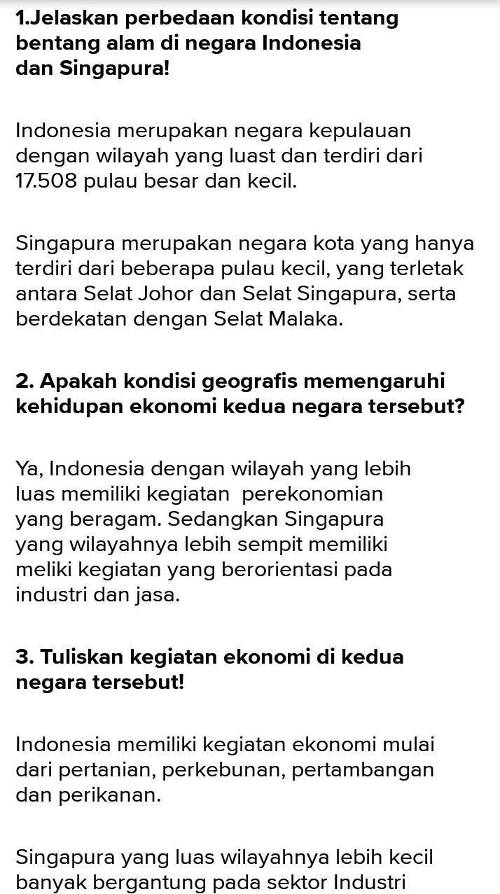 Bentang Alam Singapura : bentang, singapura, Jelaskan, Perbedaan, Kondisi, Bentang, Negara, Indonesia, Singapura, Dalam, Bentuk, Diagram, Brainly.co.id