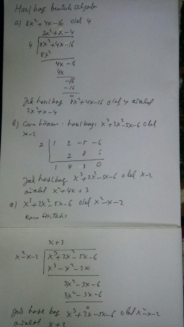 Tentukan Hasil Bagi Bentuk Aljabar Berikut : tentukan, hasil, bentuk, aljabar, berikut, Tentukan, Hasil, Bentuk, Aljabar, Berikut:, A.8x², B.x³, Brainly.co.id