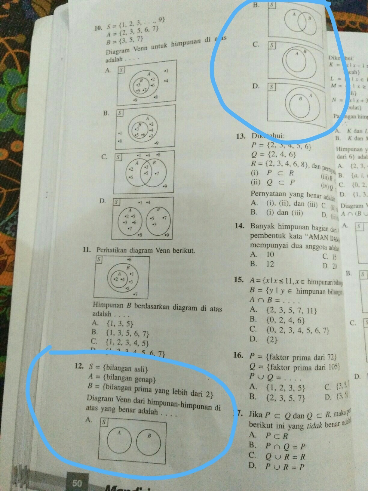 Bilangan Prima C++ : bilangan, prima, S={bilangan, Asli}, A={bilangan, Genap}, B={bilangan, Prima, Lebih, Diagram, Brainly.co.id