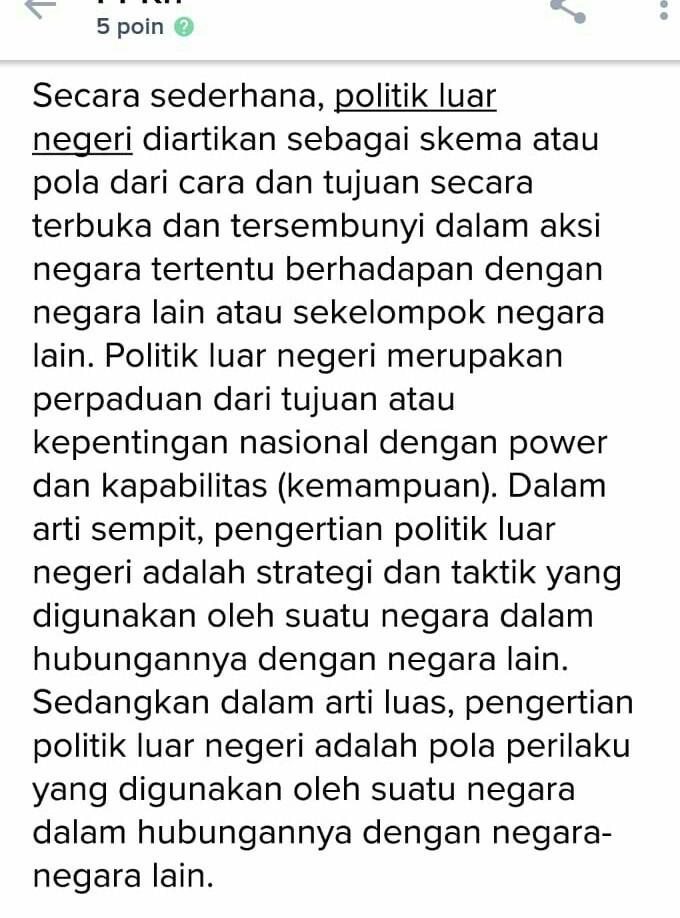 Tujuan Politik Luar Negeri Indonesia Adalah : tujuan, politik, negeri, indonesia, adalah, Politik, Negri, Adalah, Untuk, Mendukung, Tujuan, Brainly.co.id