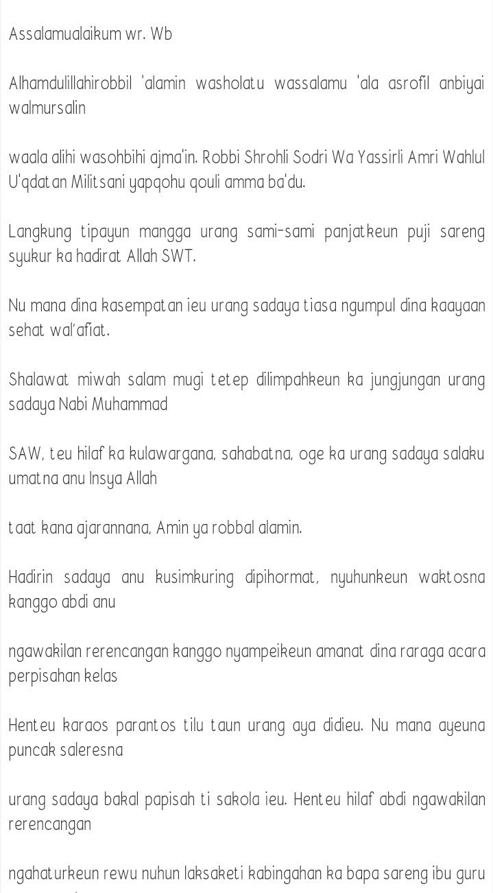 Pidato Bahasa Sunda Perpisahan : pidato, bahasa, sunda, perpisahan, Contoh, Materi, Pelajaran, Pidato, Bahasa, Sunda, Perpisahan, Kelas