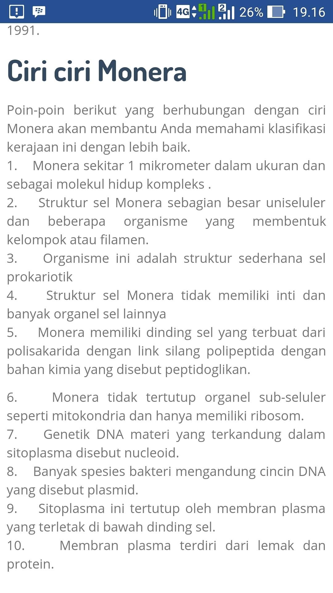 Perbedaan Ciri Kingdom Monera, Protista, Fungi, Plantae