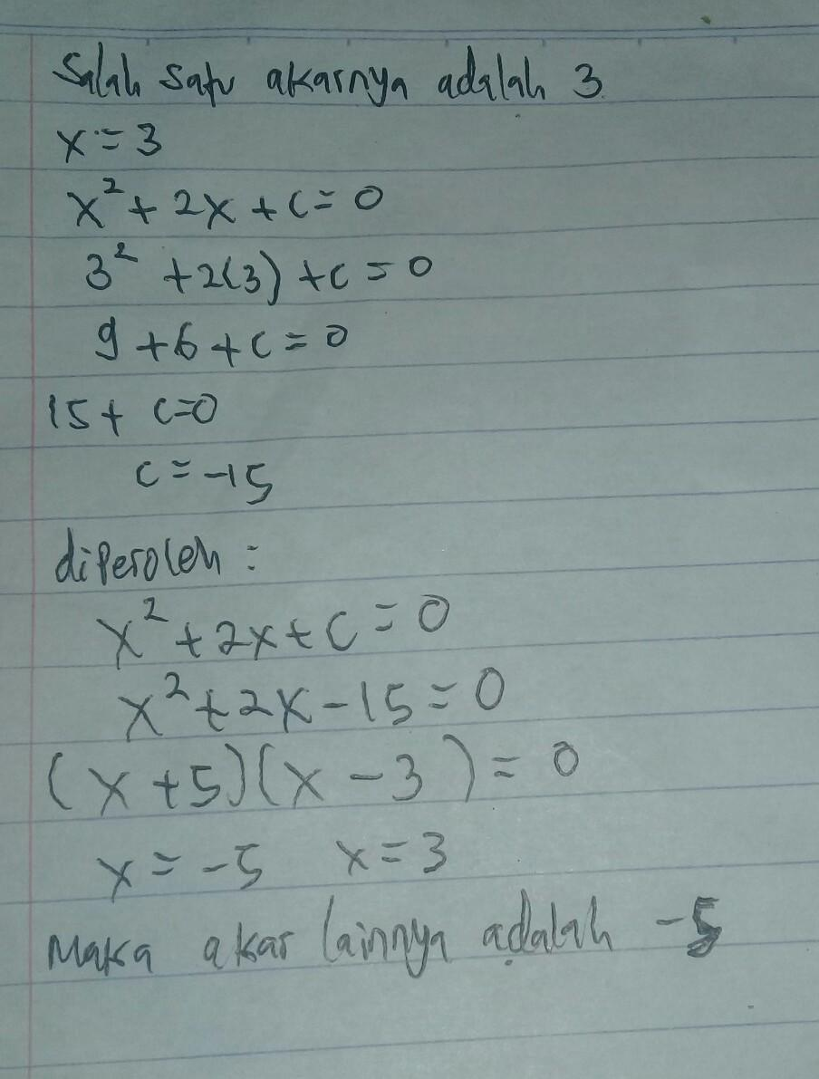 Salah Satu Akar Persamaan Kuadrat : salah, persamaan, kuadrat, Terdapat, Salah, Persamaan, Kuadrat, Adalah, Lainnya, Brainly.co.id