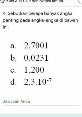 Angka Penting : angka, penting, Sebutkan, Beberapa, Banyak, Angka, Penting, Bawah, Brainly.co.id