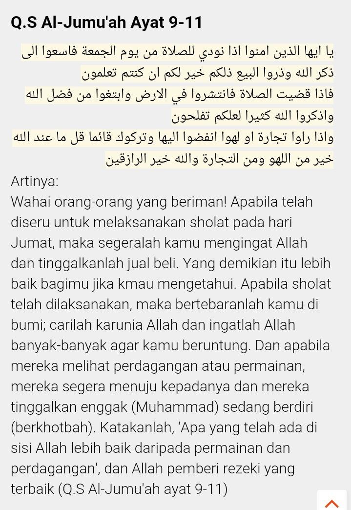 arti+surah+al-jumu'ah+ayat+9-11   Tafsirq.com