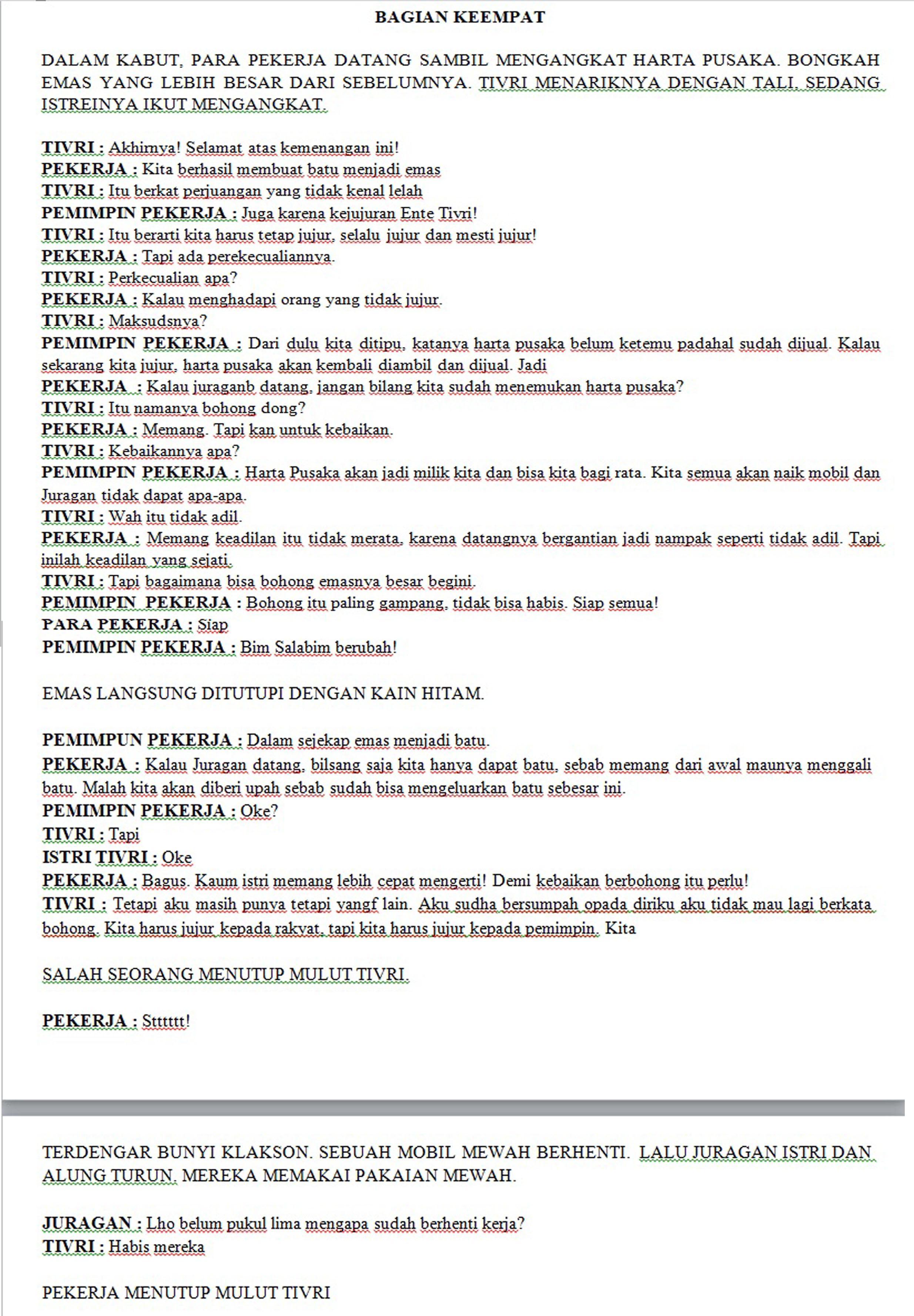 Contoh Drama Pendek Beserta Unsur Unsurnya : contoh, drama, pendek, beserta, unsur, unsurnya, TULISKAN, Unsur-unsur, Intrinsik, Drama, Cipoa, Karya, Wijaya, Bagian, Keempat., Brainly.co.id