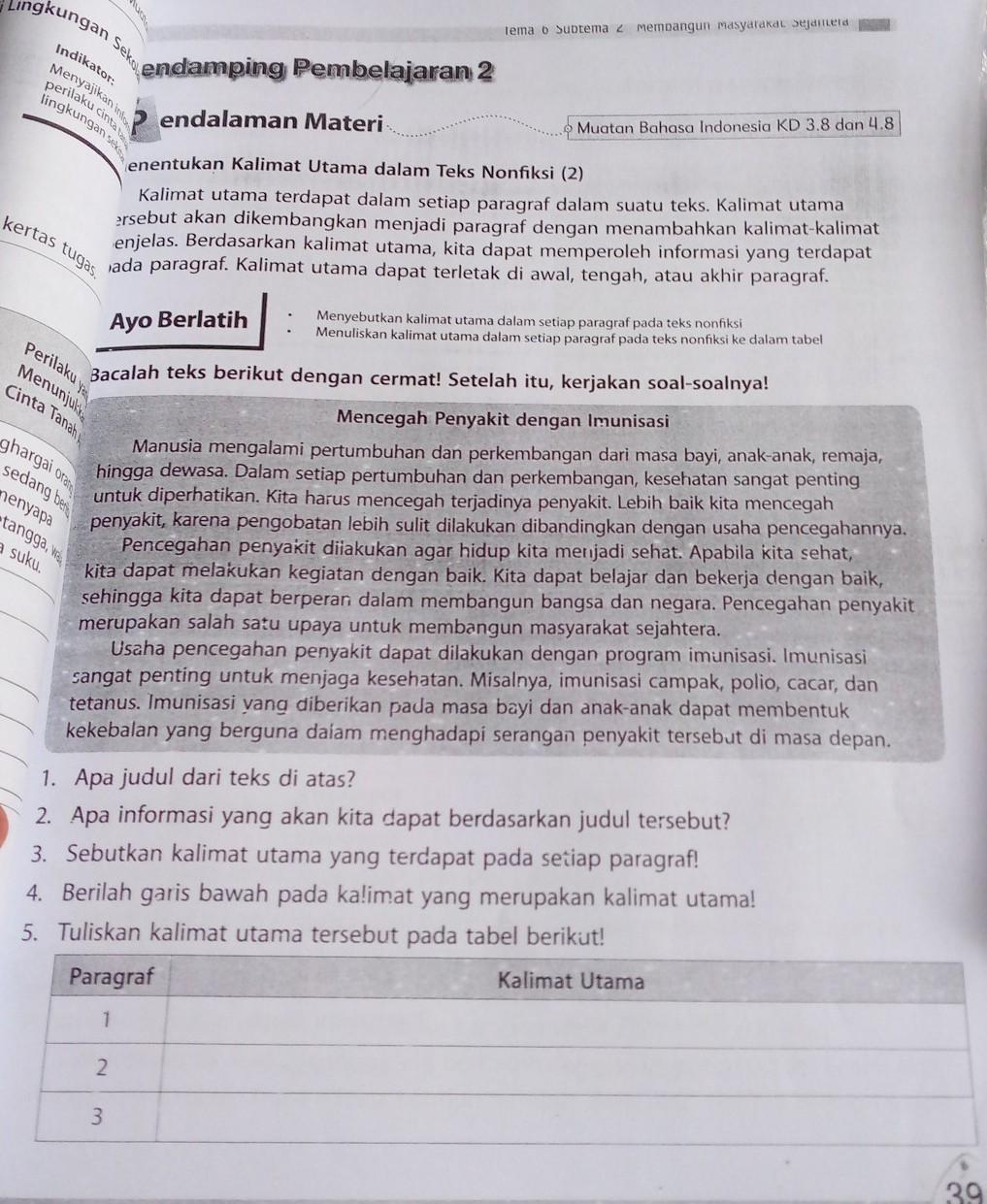 Gagasan Utama Dapat Terletak Di : gagasan, utama, dapat, terletak, Sebutkan, Kalimat, Utama, Terdapat, Setiap, Paragraf, Brainly.co.id