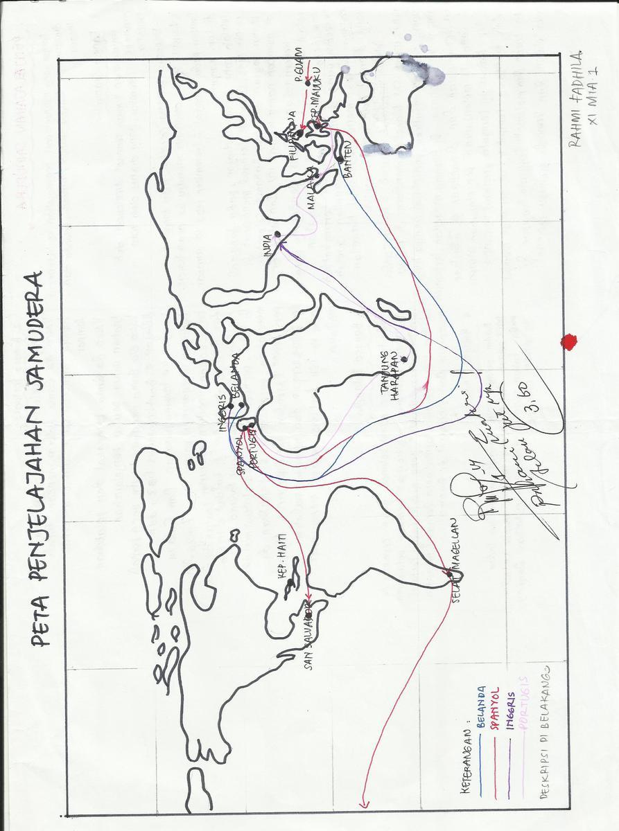 Peta Perjalanan Bangsa Eropa Ke Indonesia : perjalanan, bangsa, eropa, indonesia, Buatlah, Jalur, Penjelajahan, Samudra, Bangsa, Portugis, Brainly.co.id