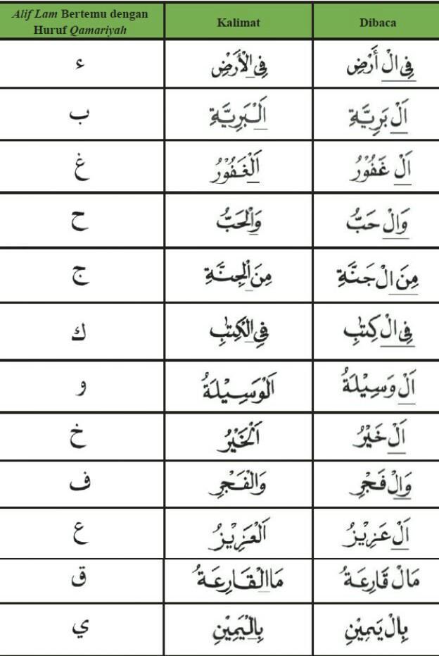 Contoh Alif Lam Qamariah : contoh, qamariah, Tuliskan, Contoh, Kalimat, Mengandung, Qamariyah!, Brainly.co.id
