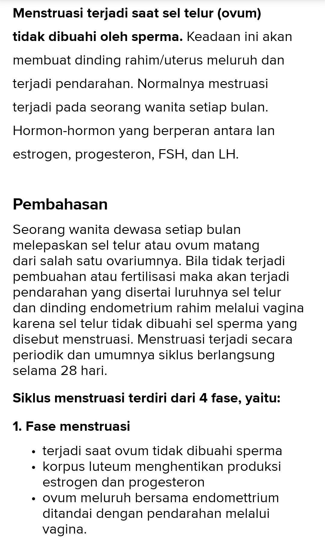 Hormon Yang Berperan Dalam Proses Menstruasi : hormon, berperan, dalam, proses, menstruasi, Jelaskan, Proses, Terjadinya, Menstruasi, Hormon, Berperan....!, Brainly.co.id