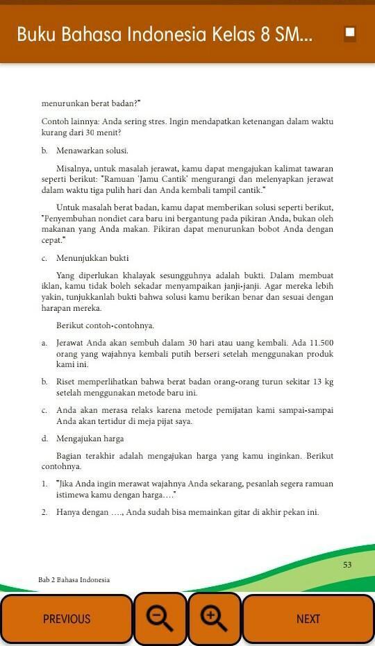 Kelas VIII Bahasa Indonesia BS - 123dok.com