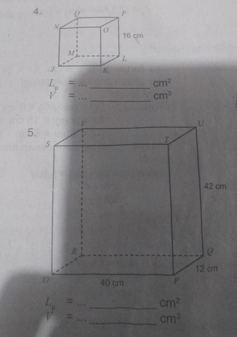 Luas Prisma Segi Empat : prisma, empat, Tentukan, Permukaan, Volume, Prisma, Empat, Bawah, Tolong, Ya..., Brainly.co.id
