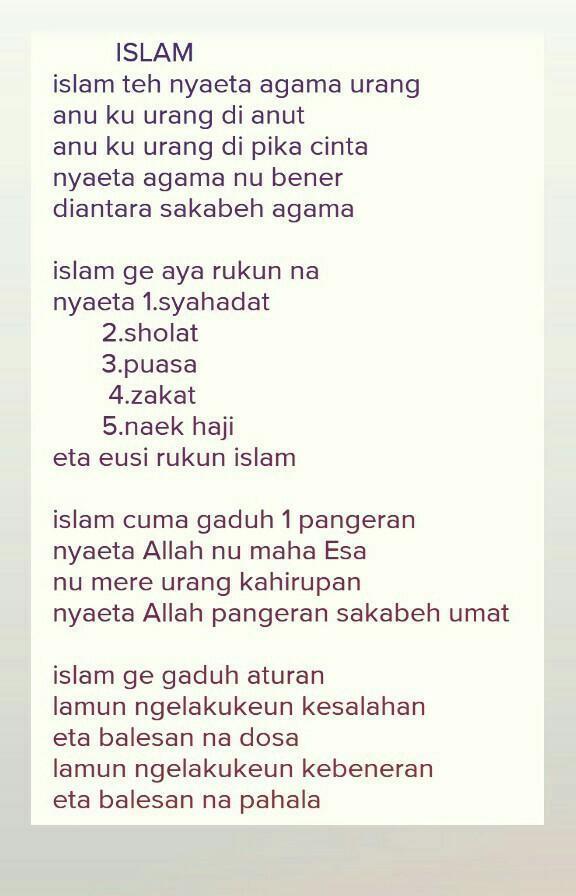 Puisi Tema Keagamaan : puisi, keagamaan, Buatkan, Puisi, Bahasa, Sunda, Dengan, Pendidikan, Agama, Islam, Brainly.co.id