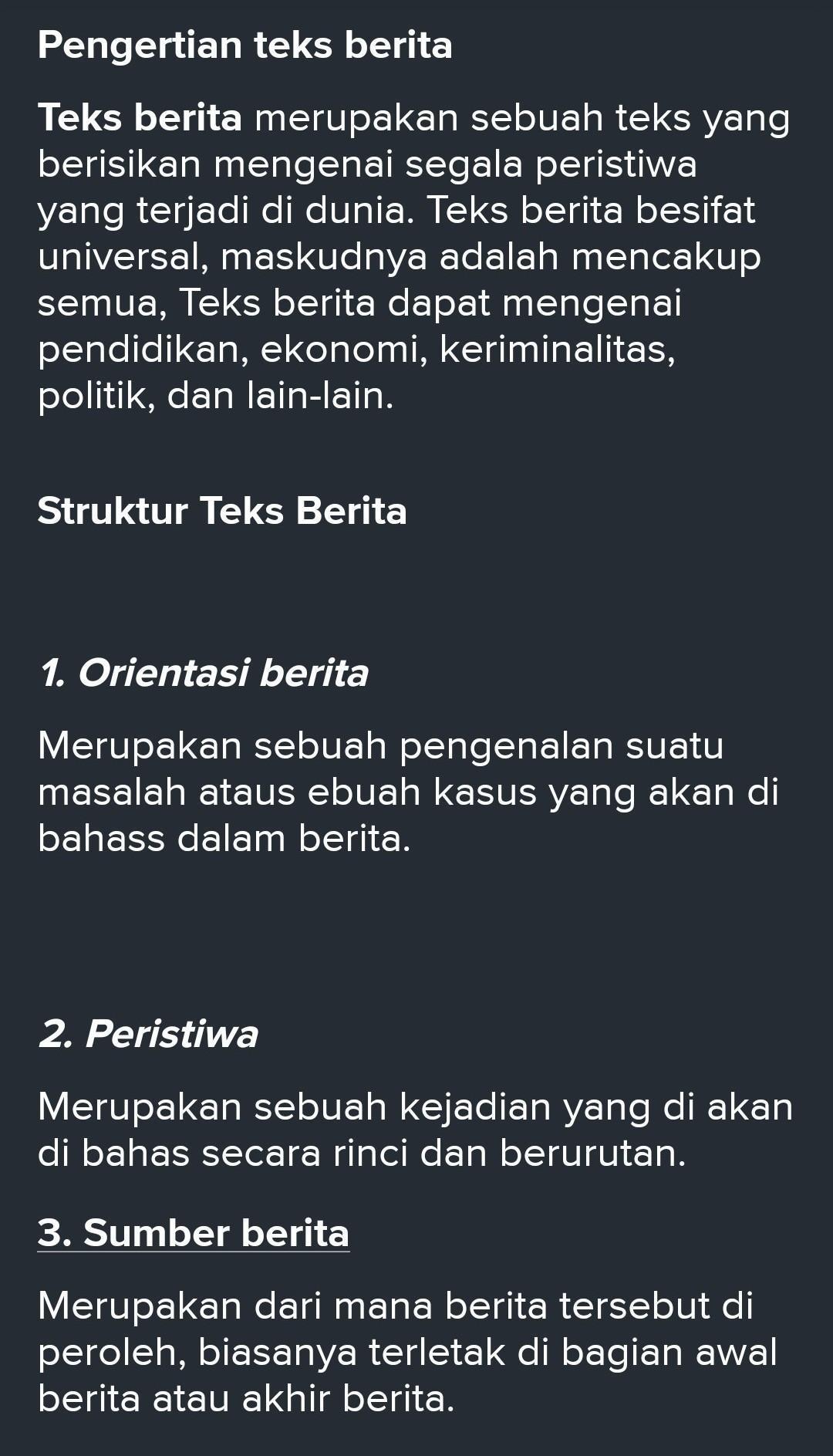 Struktur Teks Berita : struktur, berita, Sebut, Jelaskan, Struktur, Berita, Brainly.co.id