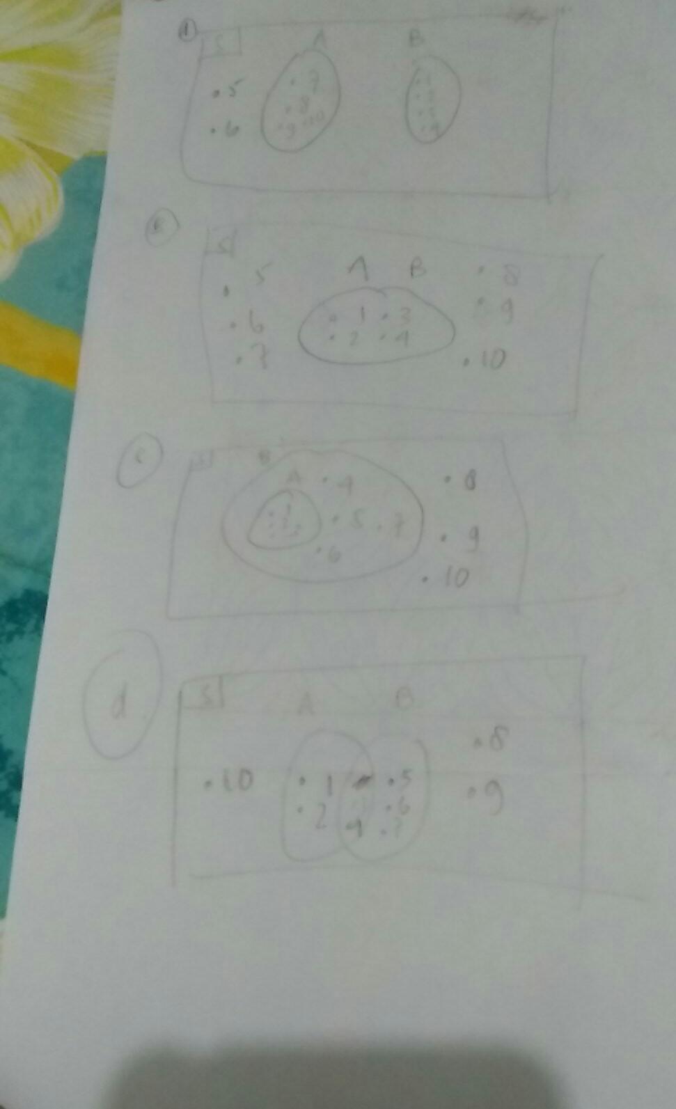 Jika Himpunan : himpunan, Gambarlah, Diagram, Himpunan, S={1,2,3,4,5,6,7,8,9,10}, A.himpunan, A={1,2,3,4}, Brainly.co.id