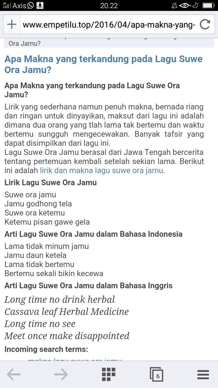 Arti Suwe Ora Jamu : Makna, Brainly.co.id