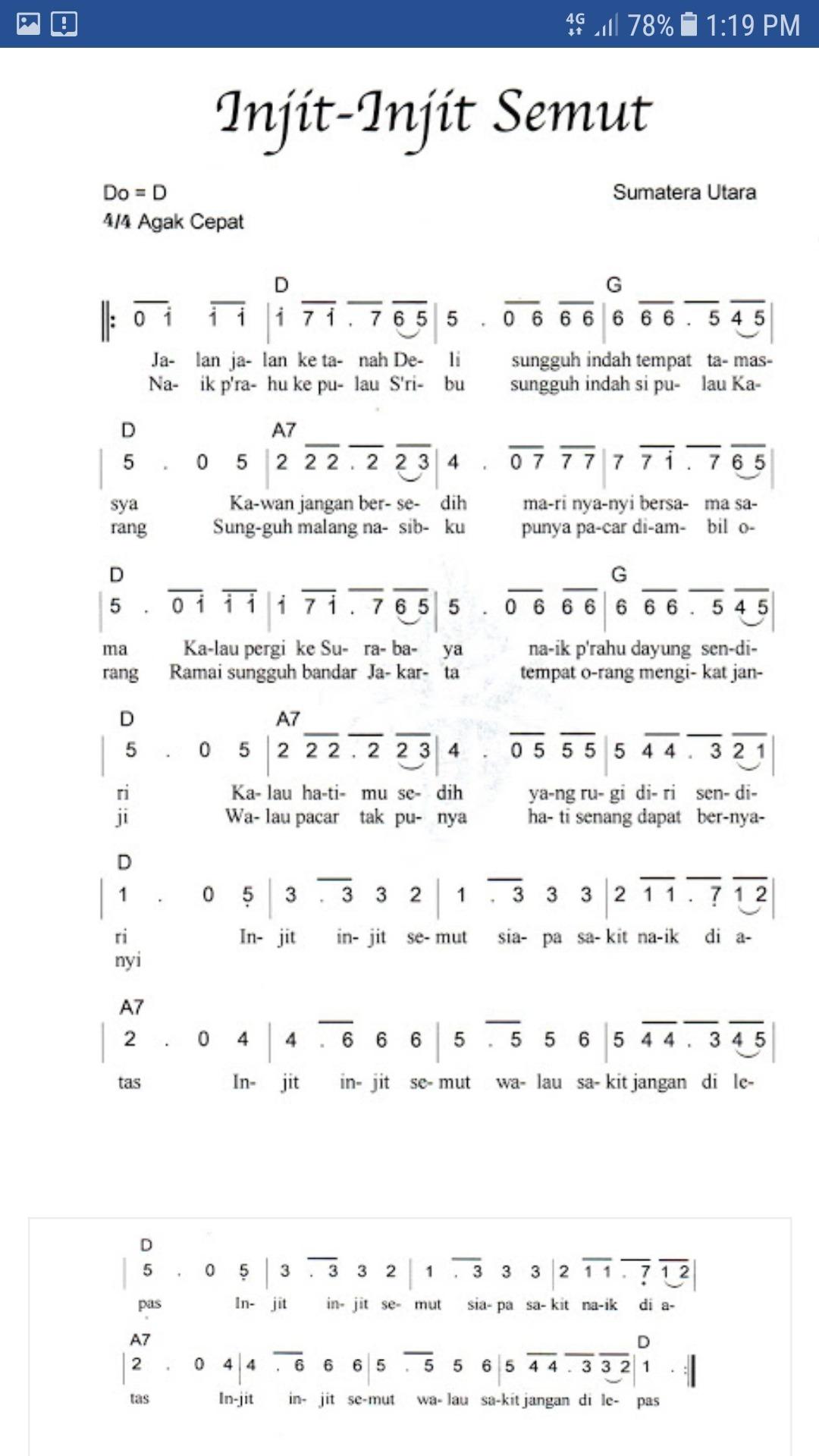 Pencipta Lagu Injit Injit Semut : pencipta, injit, semut, Daerah, Injit, Semut