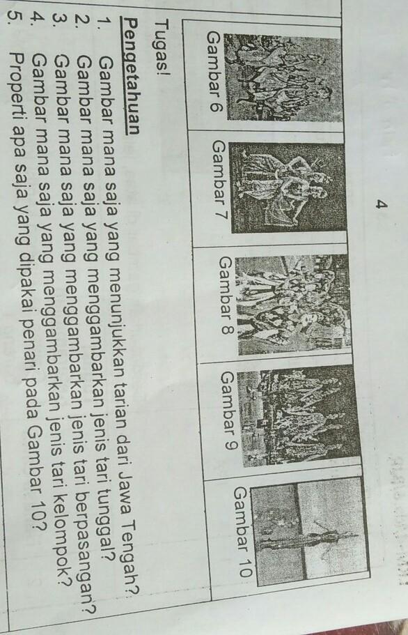Jenis Tari Kelompok : jenis, kelompok, Gambar, 8Gambar, 7Gambar, 9Gambar, 10Gambar, 6Tugas!Pengetahuan1., Menunjukkan, Brainly.co.id