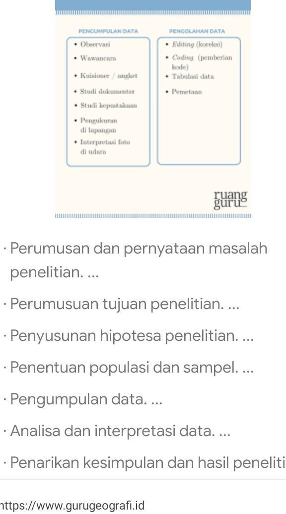 Langkah-langkah Penelitian Geografi : langkah-langkah, penelitian, geografi, Sebutkan, Jelaskan, Langkah-langkah, Penelitian, Geografi?, Brainly.co.id