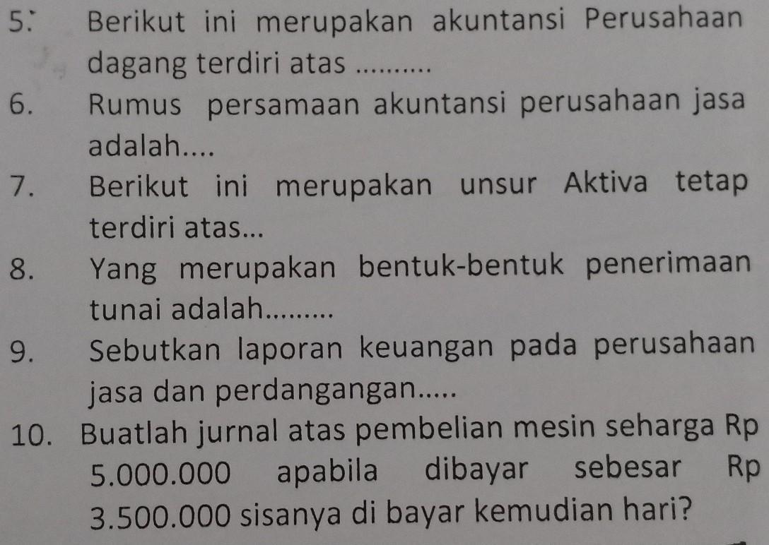 5 Berikut Ini Merupakan Akuntansi Perusahaandagang