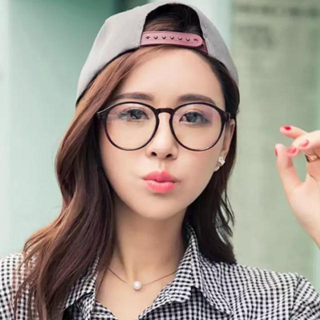 Indi Retro Round Clear Lens Fashion Glasses 14977 L - Sabyan- Nissa -  Kacamata Wanita - Popular | Lazada Indonesia