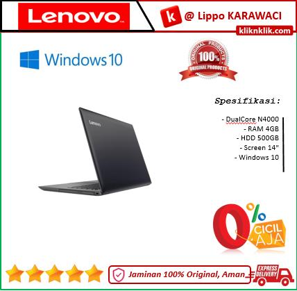 LENOVO IdeaPad 330-14IGM-N4000-4GB-500GB-Win10 Black