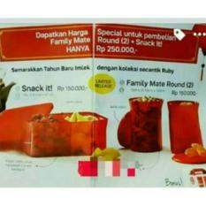 BEST PROMO FAMILY MATE ROUND TUPPERWARE TOPLES