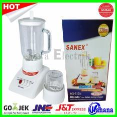 Blender Kaca 2 in 1 Sanex MX-T2GN - Kap 1 Liter + Dry Mill Kaca - Putih