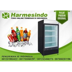 DISPLAY COOLER LEMARI PENDINGIN SC-1130 KULKAS GLASS DOOR FREEZER BOX Tempat Penyimpan Minuman Supermarket Showcase Minimarket