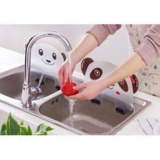 Dp0123 Karakter Papan Penahan Cipratan Air Cuci Piring - De6ac3