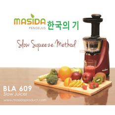 Masida KOREA Technology Slow Juicer Cold Press Slow Squeeze Pengejus Buah BLA 609 Fruit Extractor 45 Rpm Touch Button